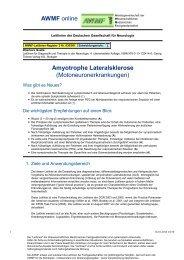030-001 S1 Lateralsklerose, amyotrophe 10-2008 10-2013 - AWMF