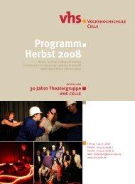 30 Jahre Theatergruppe vhs celle - Deutsches Institut für ...