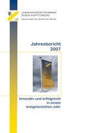 Jahresbericht 2007 - LZK BW