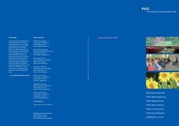 Jahresbericht 2011 - PSAG