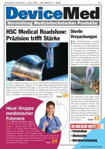 HSC Medical Roadshow: Präzision trifft Stärke - DeviceMed.de