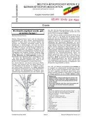 Ethiopian Cultures and the Illusion of Ethiopian Culture - Deutsch