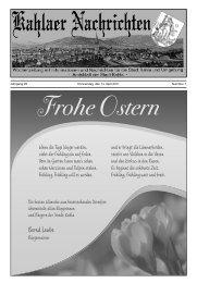 Kahlaer Nachrichten - Ausgabe Nr. 7 - 14. April 2011