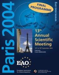 13th Annual Scientific Meeting