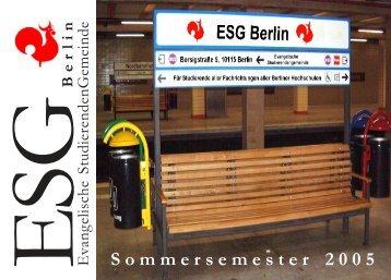 Sommersemester 2005 - ESG Berlin