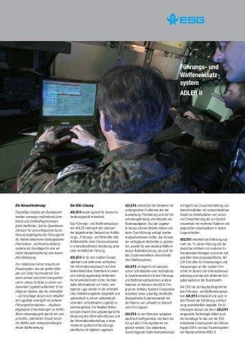 Führungs- und Waffeneinsatz- system ADLER II - ESG