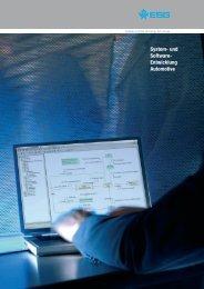 System- und Software- Entwicklung Automotive - ESG