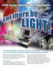 TCSPC on the FluoroLog Spectrofluorometer - Horiba