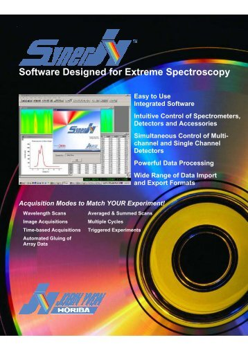 SynerJY Software Designed for Extreme Spectroscopy - Horiba