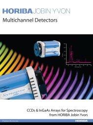 CCD & InGaAs Arrays for Spectrocopy from HORIBA Jobin Yvon