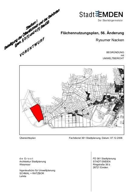 56.FNP--304nd.Vorentwurfsbegr-374ndung f-374r Stea - Stadt Emden
