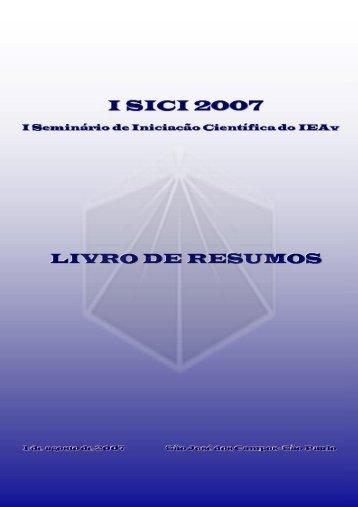Livro de Resumos, versão para download. - IEAv - Centro Técnico ...