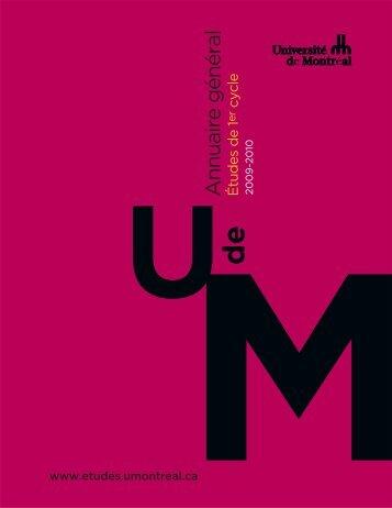 Annuaire général - Guichet étudiant - Université de Montréal