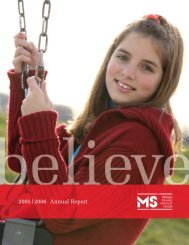 Annual Report E16 - Multiple Sclerosis Society of Canada
