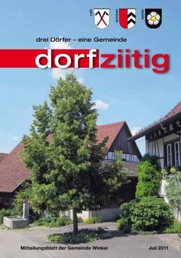 Dorfziitig Juli 2011 - Gemeinde Winkel