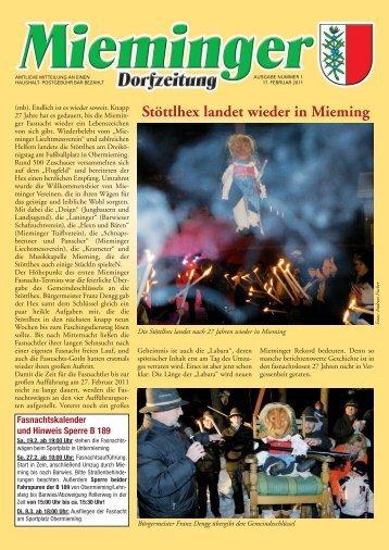 Stöttlhex landet wieder in Mieming - Gemeinde Mieming - Land Tirol