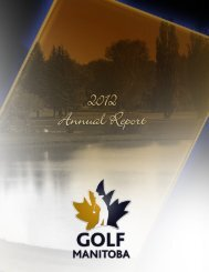 2012 Annual Report - Golf Manitoba