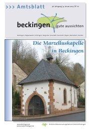Ausgabe 01 + 02/2013 - Gemeinde Beckingen