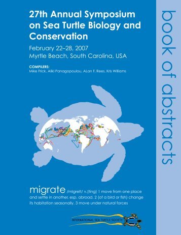 book of abstracts - 33rd Annual Symposium on Sea Turtle Biology ...