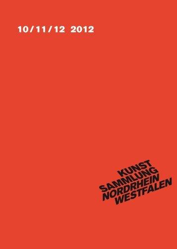 Quartalsprogramm 10/11/12 2012 - Kunstsammlung NRW