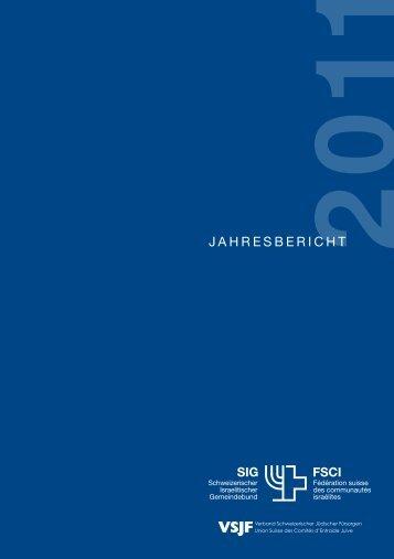 Jahrebericht des SIG 2011 (PDF, 1.2MB) - Schweizerischer ...