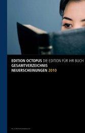 EDITION OCTOPUS DIE EDITION FÜR IHR BUCH ... - Karsten Eckert