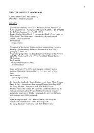 aanwinstenlijst januari -februari 2009.pdf - Theater Instituut Nederland