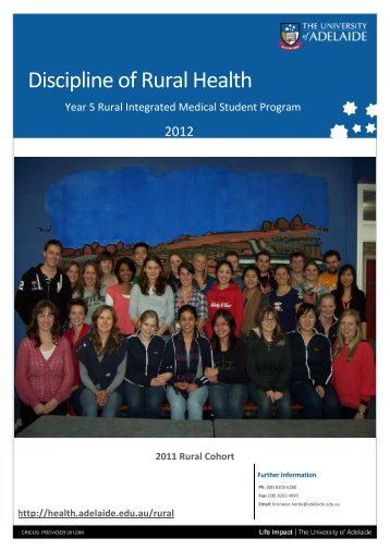 Discipline of Rural Health - Faculty of Health Sciences - The ...