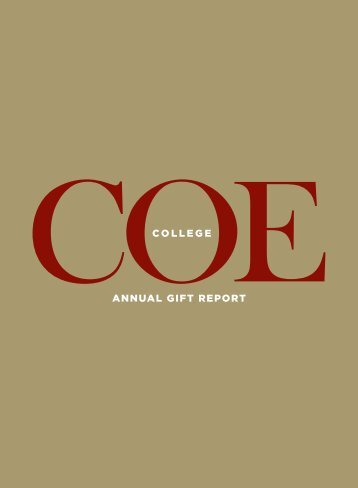 ANNUAL GIFT REPORT - Coe College