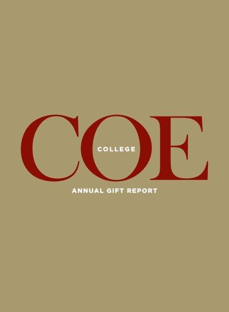 Annual Gift Report Coe College