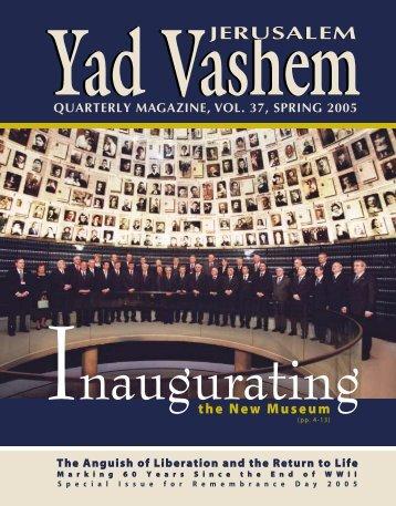 Magazine 37 - Spring 2005 - Yad Vashem