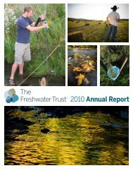 2010 Annual Report - The Freshwater Trust
