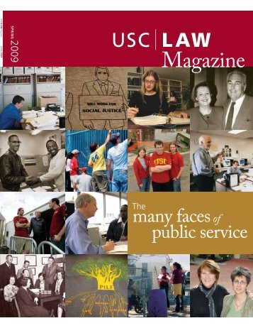 many facesof public service - USC Gould School of Law - University ...