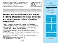Atmospheric three-dimensional inverse modeling of ... - ACPD