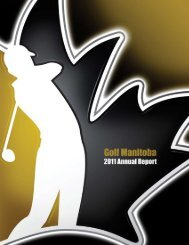 2011 Annual Report - Golf Manitoba