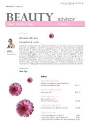 news, trends & tips Sommer - Beauty Management AG