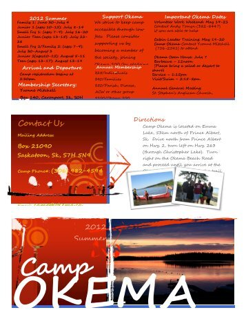 www.okema.ca Contact Us - Camp Okema