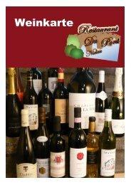 Weinkarte - Restaurant Du Pont Nidau