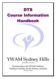 Course Information Handbook - YWAM Sydney Hills