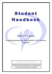 University of the Nations Catalogue 2008-2010 - YWAM Bases