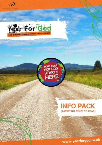 Request a detailed information pack - YWAM Holmsted Manor