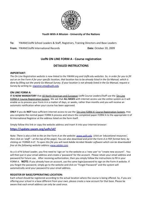 Forum | YWAM Harpenden I