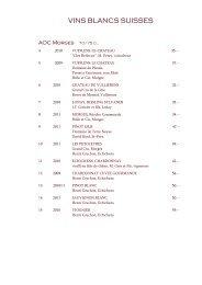 Carte des Vins - Hôtel du Mont-Blanc