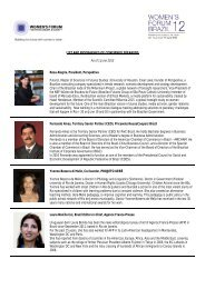 LIST AND BIOGRAPHIES OF CONFIRMED SPEAKERS As of 1 June 2012 Rosa ...
