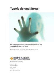 Typologie und Stress 10 - Esperanza, Beratung, Training, Coaching