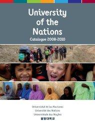 University of the Nations Catalogue 2008-2010 - YWAM Bases