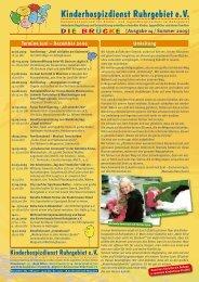 Ausgabe 14 / Sommer 2009 - Kinderhospizdienst Ruhrgebiet eV