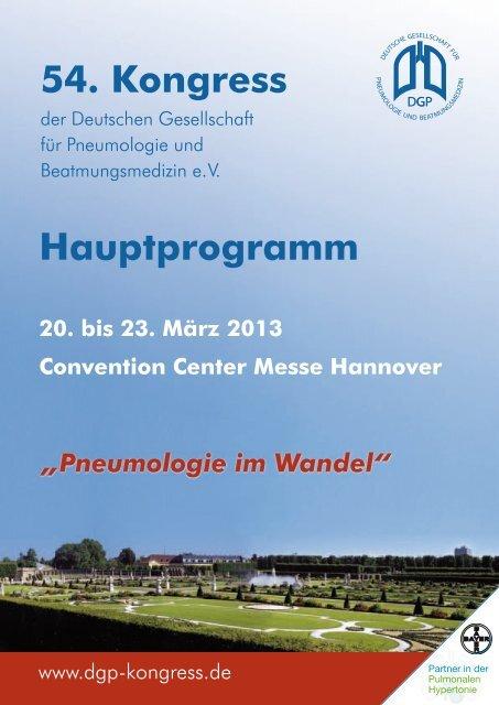 Hauptprogramm - Deutsche Gesellschaft für Pneumologie