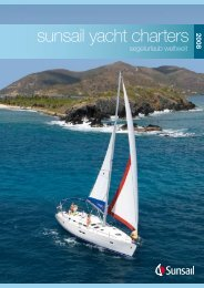 sunsail yacht charters