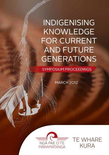 NPM TWK Symposium Proceedings 2012.pdf - Ngā Pae o te ...